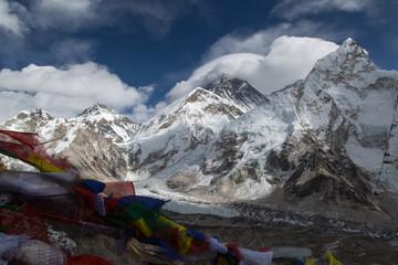 Blick vom Kala Patthar auf den Mt. Everest und den Khumbu Gletscher