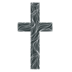 Monochrome Christ lines, line art, vector sign, illustration isolated on white background