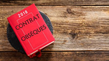 livre rouge : contrat obsèques