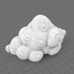 Decorative cloud with spirals