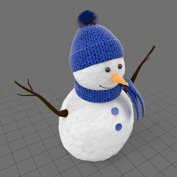 Snowman with hat and scarf