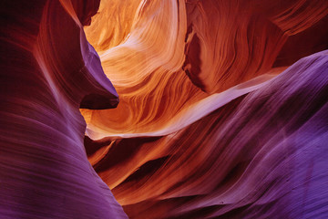Glowing Sandstone Curves at Antelope Canyon