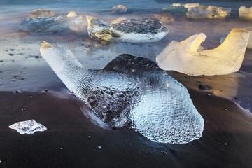 Isolated iceberg looks like the fish