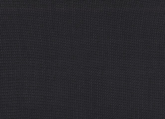 Texture of knitted black  fabric. Cold weather background.