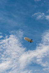 photography blimp in the sky