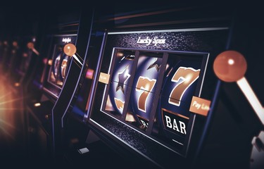 Row of Vegas Slot Machine