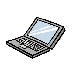 Cartoon Laptop Vector Illustration