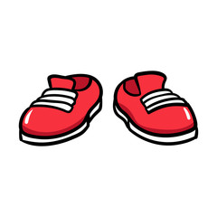 Cartoon Pair of Shoes Vector Illustration