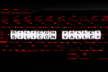 Silicon Valley symbol on keyboard