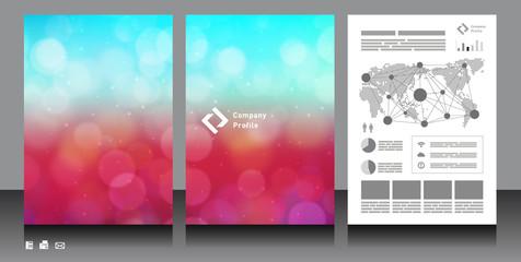 企業パンフレット表紙素材