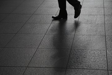 Image of walking alone