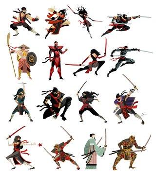 ninja and samurai collection characters