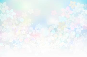 カラフルな桜の背景