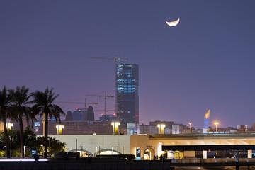 Skyscraper in construction in Doha Qatar
