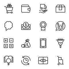 E-commerce flat icon