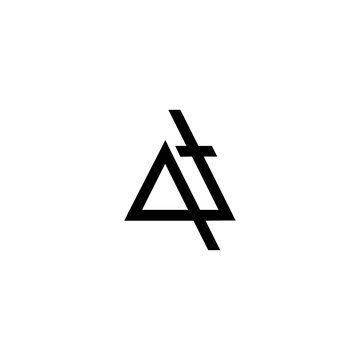 art of letter qt logo vector