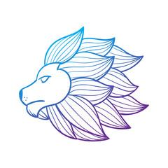 lion head abstract illustration