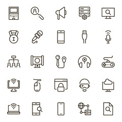 Online game icon set.