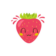 Vector strawberry character
