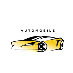 modern style yellow and black automobile vector illustration