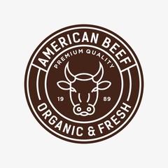 Beef - vector logo/icon illustration mascot