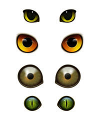 Monster animals cats realistic eyes