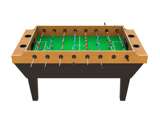 Foosball Soccer Table Game Isolated
