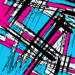 geometric abstract color pattern in graffiti style. Quality vector illustration for your design