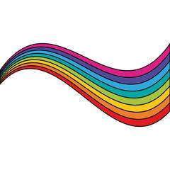 Rainbow on white background icon vector illustration graphic design
