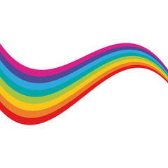 Rainbow on white background icon vector illustration graphic design