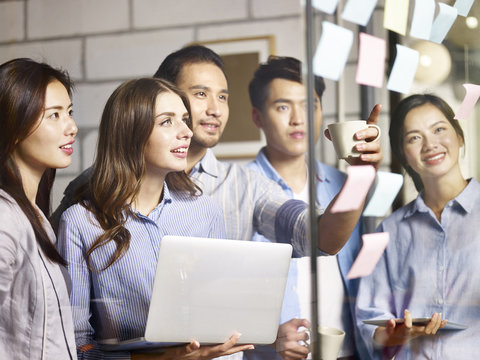 Team of entrepreneurs meeting in an office