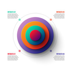 Business data visualization. Abstract gradient element of graph, diagram with 4 steps, options, parts or processes. Vector business template for presentation. Creative concept for infographic.
