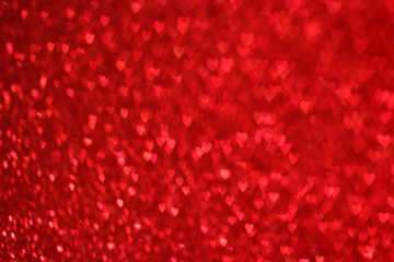 Hearts Bokeh Background . Valentine's day background