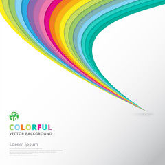 Abstract colorful lines pattern twist curve element speed motion on white background with copy space.