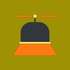 flat icon on background Kids toy helicopter
