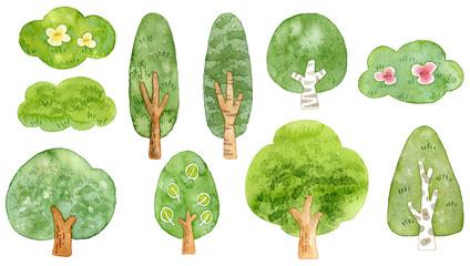 樹木 セット素材