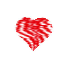 Heart made from lines.