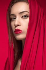 Fashion woman portrait. Beautiful model.