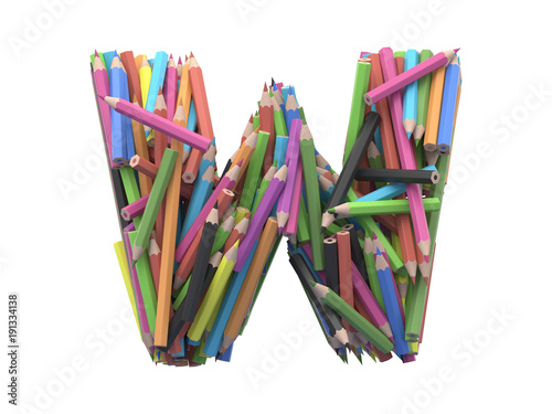 Colored pencils font