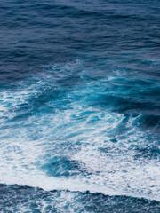 Water pattern after wave breaks in the ocean.