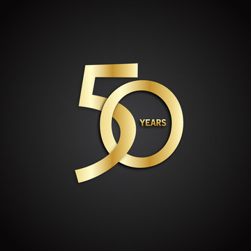 50 YEAR ANNIVERSARY Vector Icon