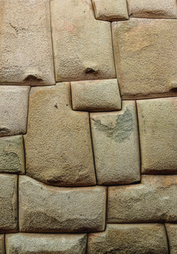 Inca stonework, Hatunrumiyoc Street, Cusco, Peru