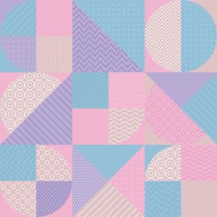 concept pastel color geometric pattern.
