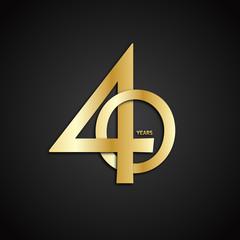 40 YEAR ANNIVERSARY Vector Icon