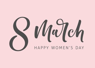 8th March Women's Day Lettering