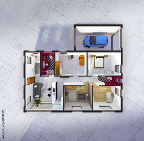 Plan am nagement int rieur d 39 une maison individuelle for Amenagement interieur d une maison