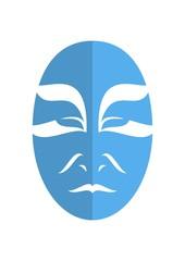 Tribal sad japanese actor mask