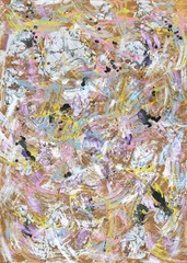 Gemälde von Carola Vahldiek mit Acryl-Skins, Interferenzfarben, Acryl und Gouache, Muster, Hintergrund