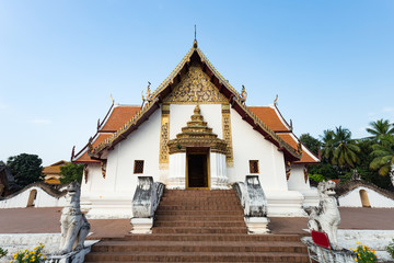 An ancient temple of the northern of Thailand, WAT PUMIN, located in NAN, Northern, Thailand