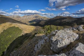 Mount Vettore in autumn, Sibillini Park, Umbria, Italy, Europe